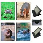 Hippo Hippopotamus Universal Folio Leather Case For Samsung Tablets