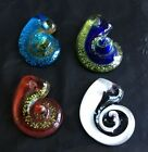 new colors 100% Handmade Lampwork Glass retro conch colors Pendant Necklace