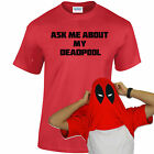 ASK ME ABOUT DEADPOOL T-SHIRT  MARVEL INSPIRED COMIC DEADPOOL EYES KIDS/ADULT