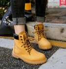 Retro Womens Lace up Round toe Ankle Boots Work Boots Casual Shoes Plus Sz4.5-11