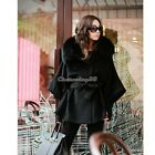 Women Lady  Winter Coat Jacket Fur Collar Thick Padded Long Hooded Outwear Parka