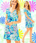 Lilly Pulitzer Jessica Dive In Reduced Easy Short Sleeve Palm Beach Slub Dress