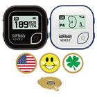 GolfBuddy Voice 2 Golf GPS/Rangefinder + Magnetic Hat Clip Ball Marker