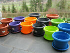 Plant Pot Flower Pot with Coasters Cylinder Frostproof NEW
