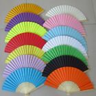 Chinese Hand Fan Bamboo Silk Folding Paper Fan Wedding Party Home Decor Gift