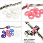 charm for charm bracelet - Round Rubber Stoppers Spacer Bead for European Charm Bracelet or Clip