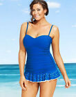 Profile Gottex Tutti Frutti Swimdress Swimsuit Womens Laser Cut NWT Blue $168
