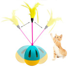 Pet Tumbler Kitten Toys Balls Interactive Cat Toy Teaser Wands with Feathers New