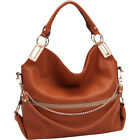Dasein Gold-Tone Quilted Trendy Hobo Bag with Multi