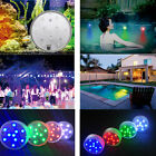1-40x Remote Control Colour Changing Submersible LED Pond Lights Battery Powered
