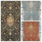 York Waverly Classic Byzance Paisley Damask Black Brown Gold Medallion Wallpaper