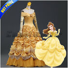 Beauty and the Beast Princes Belle Cosplay Costume Women Fancy Dress Ball Gown B
