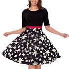 Women's Fashion Vintage Patchwork Casual Party Dress with Pockets