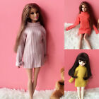 1/6 BJD Doll SD Dollfie DZ DOD LUTS Barbie Multi-Color Sweater Long Sleeve Dress