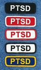 1 PTSD SERVICE DOG PATCH 1X3 INCH Danny & LuAnns Embroidery assistance