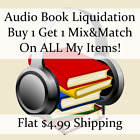 Used Audio Book Liquidation Sale ** Authors: V-V #896 ** Buy 1 Get 1 flat ship