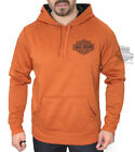 Harley-Davidson Mens B&S Synthetic Fleece Pullover Texas Orange L/S Hoodie