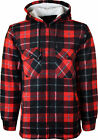 NEW MENS CHECK LUMBERJACK QUILTED THICK PADDED SHIRT WARM WINTER WORK SHIRT SIZE