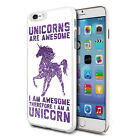 Purple Awesome Unicorn Design Shockproof Hard Case Cover For Mobiles