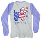 Puppie Love Vintage USA Pup Help Rescue Dogs 3/4 Sleeve Raglan