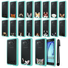 For Samsung Galaxy On5 G550 G500 Animal Clear TPU Teal Bumper Case Cover + Pen