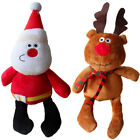 Christmas Dog Toy Plush Squeaky Puppy Toys Father Xmas, Reindeer Penguin