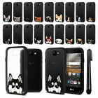 For LG K3 LS450 Animal Clear TPU Black Bumper Case Cover + Pen