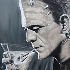 Contemplative Cocktail Mike Bell Frankenstein Alcohol Martini Giclee Art Print