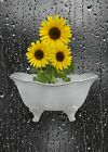 Yellow Sunflower Bathroom Wall Decor Matted Artwork Picture