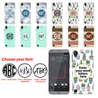 For HTC Desire 530 630 Custom Personalized Monogram Letters Hard Case Cover