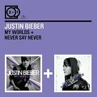 My worlds + Never say never the remixes Justin Bieber 2 CD Set New ! Sealed !