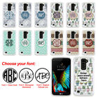 For LG K10 Premier LTE Custom Personalized Monogram Letters Bling Case Cover