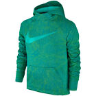 Nike Soccer 2017 GPX Therma FIT Hooded Top Hoodie New Teal Green Kids - Youth