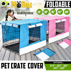 "24"" 30"" 36"" 42"" 48"" Pet Dog Puppy Cage Collapsible Cover Crate Kennel Cat Rabbit"