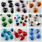 10pcs 14mm Heart Crystal Glass Charms Faceted Loose Spacer Beads Pendants DIY