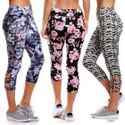 Womens Sport Yoga Fitness Stretchy Legging Floral Pants Athletic Trouser Display