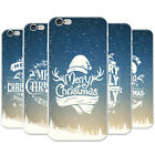 Snow Typography Christmas Wishes Snap-on Hard Case Phone Cover for Apple Phones