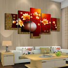 5Pc 3D DIY Oil Painting Picture Flower Canvas Wall Art Print Frameless Poster