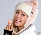 EXTRA THICK Winter Trapper Hat Braids Tassels HIGH QUALITY