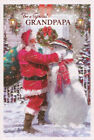 traditional GRANDPAPA Christmas card grand-papa - 2 x cards to choose from!