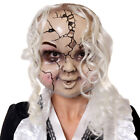 CRACKED DOLL MASK HALLOWEEN CREEPY ACCESSORY BROKEN CHINA BABY FANCY DRESS
