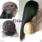 "Hot Lace Front Wig Yaki Straight 14""-22"" 100% Indian Remy Human Hair Woman Wigs"