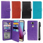 For Huawei Honor 5X Flip Card Holder Wallet Cover Case Wrist Strap + Pen