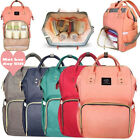2017 Waterproof Mummy Bag Baby Maternity Diaper Nappy Large Changing Travel Bags