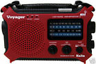 HOT RED Kaito KA500 AM/FM Solar NOAA Weather Alert Radio w/ AC Charger & SW Ant