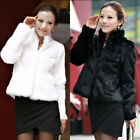 Winter Lady Womens Warm Short Faux Fur Fox Coat Jacket Parka Outerwear Size 6-12