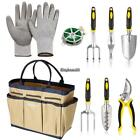Durable 9PCS Garden Plant Tool Set Gardening Tool Organizer Tote Bag Carrier New