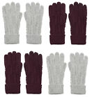 Alice Hannah of London Lyla Cable Knitted Gloves (Berry or Grey)