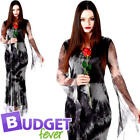 Spooky Ghost Corpse Ladies Fancy Dress Halloween Undead Womens Adult Costume New