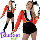 Lion Tamer Womens Fancy Dress Circus Carnival Ringmaster Ladies Adults Costume